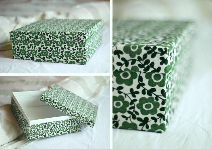 Fabric shoebox first attempt ! ( :