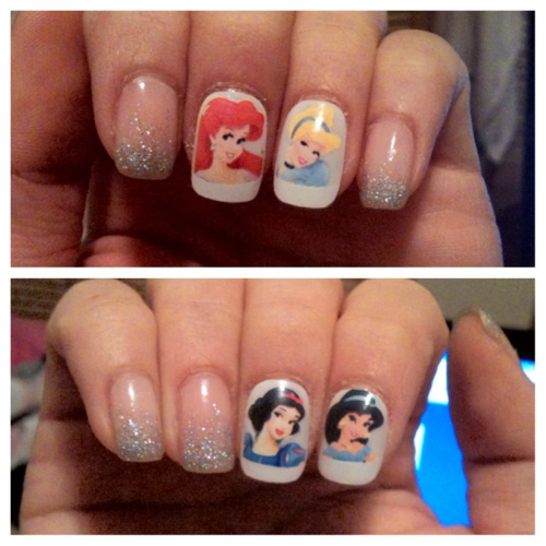 Dress Disney Princess Nails: 1000+ Ideas About Princess Nail Designs On Pinterest