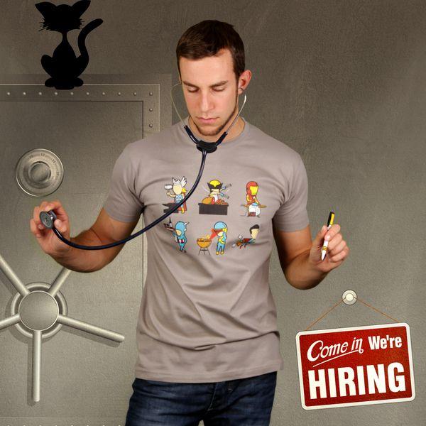 T-Shirts Kurzarm print - Nebenjob (Herren T-Shirt) - ein Designerstück von KaterLikoli bei DaWanda