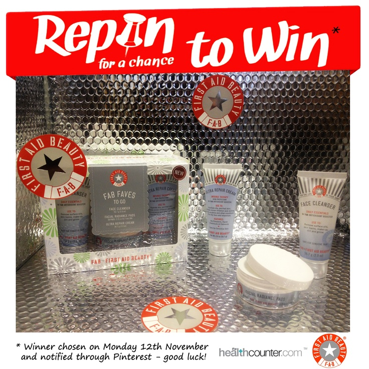 We've got a special #competition for our Pinterest followers! Simply follow the Healthcounter and re-pin this image for a chance to #win a fab First Aid Beauty pack! Good luck :)