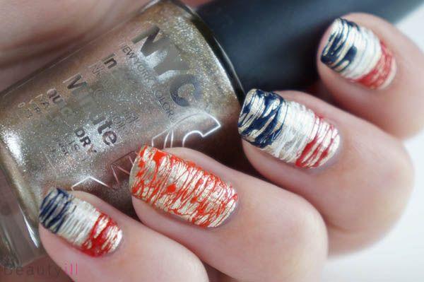 DIY Nail Art   Koningsdag / Koninginnedag ~ Beautyill   Beautyblog met nail art, nagellak, make-up reviews en meer!