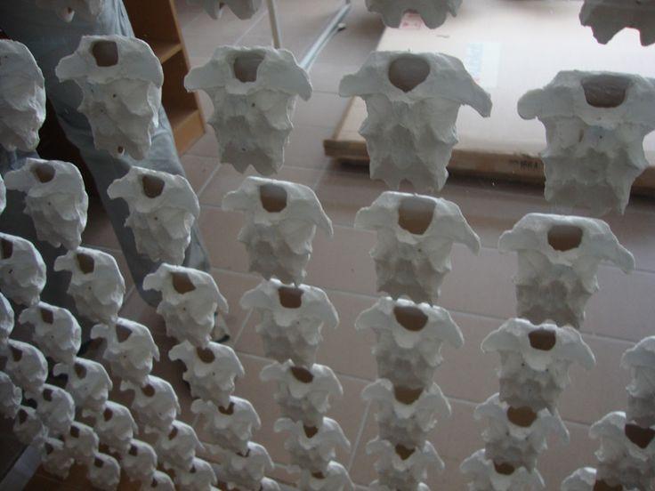 Anna Klimešová, Collection III., 2013, 100 x 100 cm, porcelain and plexyglass #porcelain #sculpture #collection