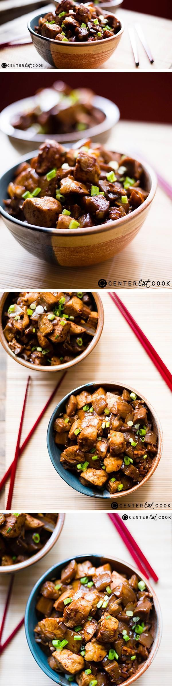 Make this flavorful, healthy, and delicious SPICY CHICKEN And EGGPLANT STIR FRY dinner in just 25 minutes!