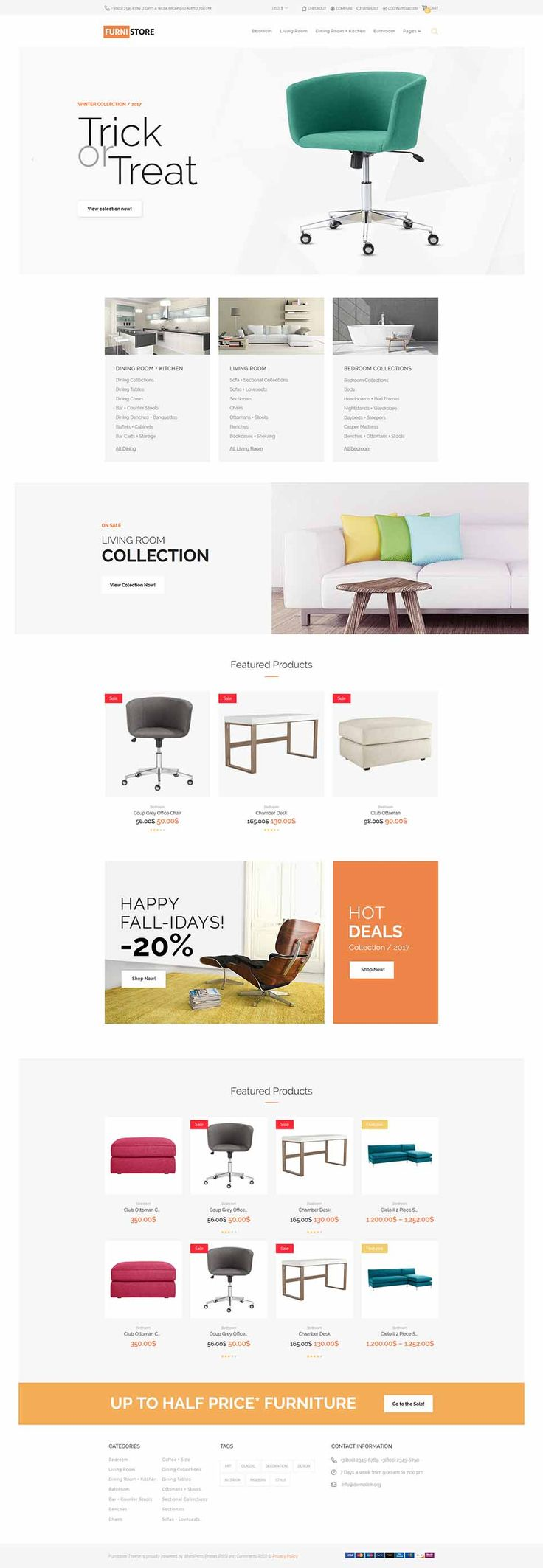 Modern Furniture Online Store #WooCommerce #template. #themes #business #responsive #WooCommercethemes