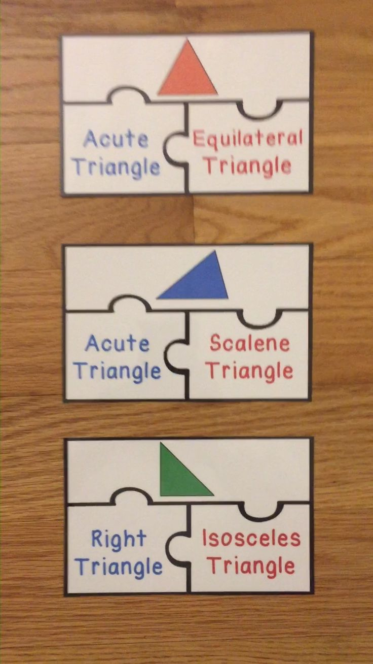 Classifying triangles game puzzles types of triangle