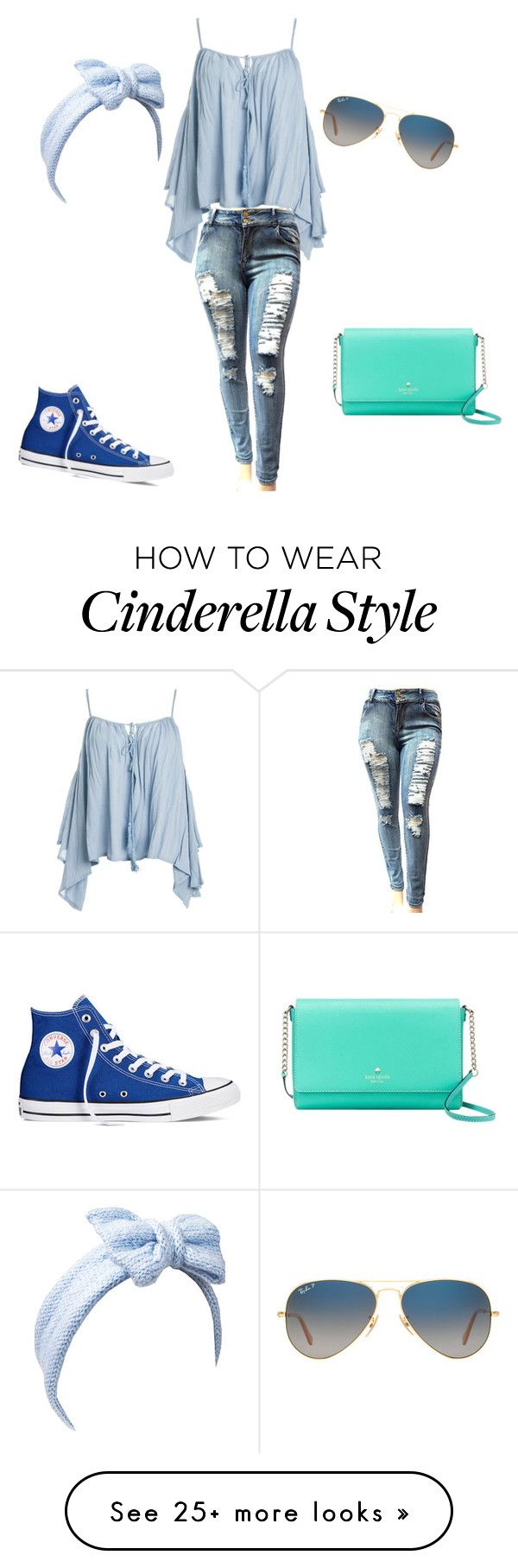 """The 2016 Cinderella"" by catch22mitchell on Polyvore featuring Converse, Sans Souci, Ray-Ban, Kate Spade and Beauxoxo"