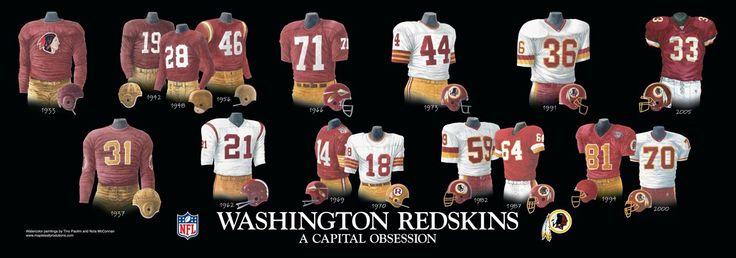 Washington Redskins   Washington Redskins Uniform and Team History   Heritage Uniforms and ...