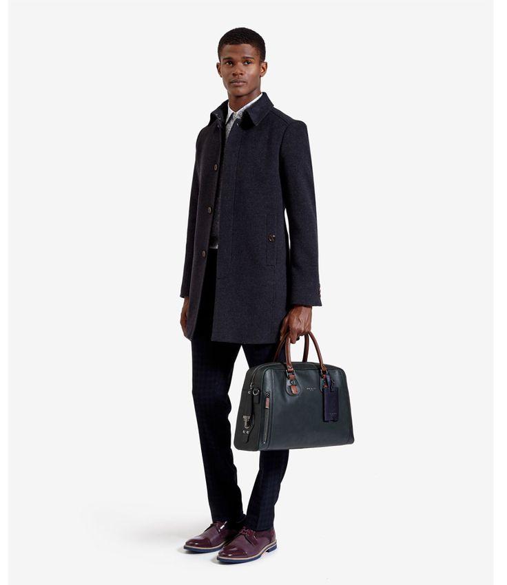 De Mazebag van Ted Baker is een elegante lederen tas. (€369,95) #Mazebag #Handtassen #TedBaker