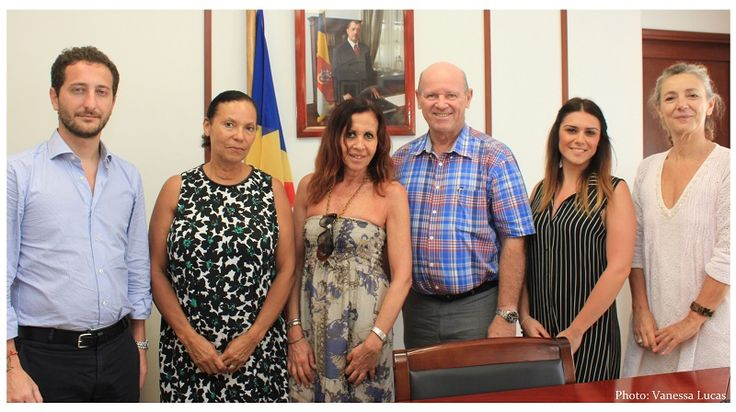 Monette Rose, the Seychelles Tourism Board's Manager in Italy accompanied a delegation of press from Italy when they met with Minister Alain St.Ange, the Seychelles Minister responsible for Tourism and Culture at the Ministry's ESPACE Building Offices.