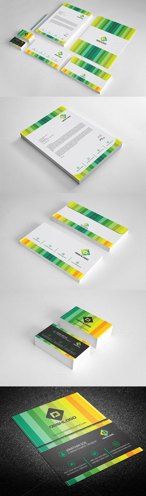 Corporate Stationery Template. Stationery Templates