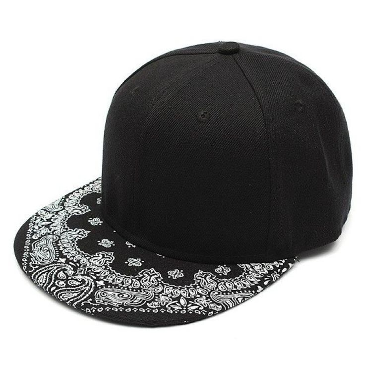 Men Women Adjustable Baseball Cap  Flat Bill Paisley Hippie Snapback HipHop Hat - Gchoic.com