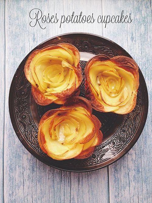Roses potatoes cupcakes ovvero patate a forma di rosa