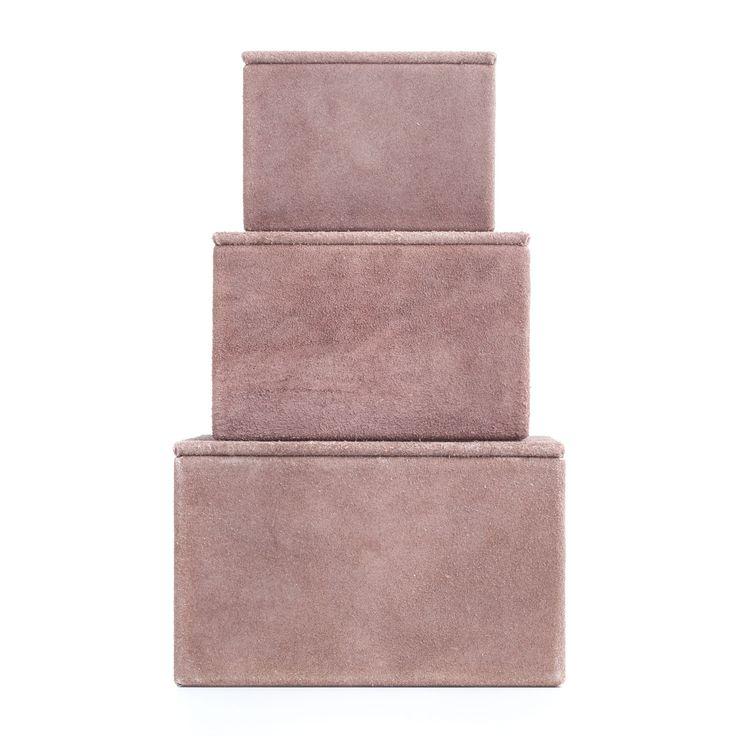 Suede Box Large, Rosa 455 kr. - RoyalDesign.se