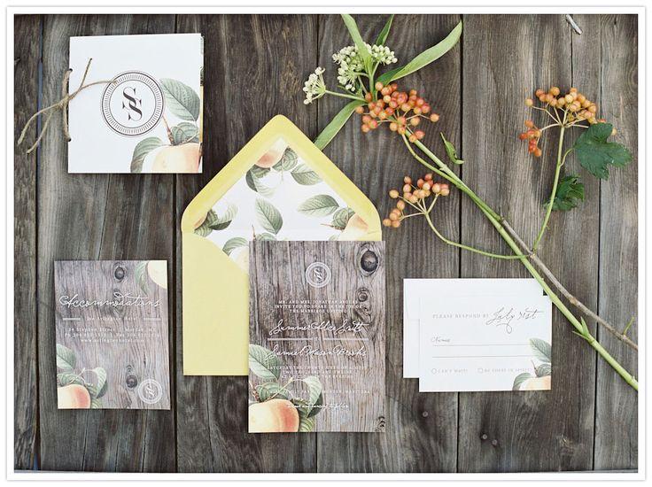 Styled Orchard Wedding Invitations | Lani Elias Photography