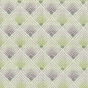 lilac and green art deco curtain upholstery fabric
