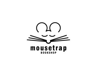 Negative space logo design: Mousetrap