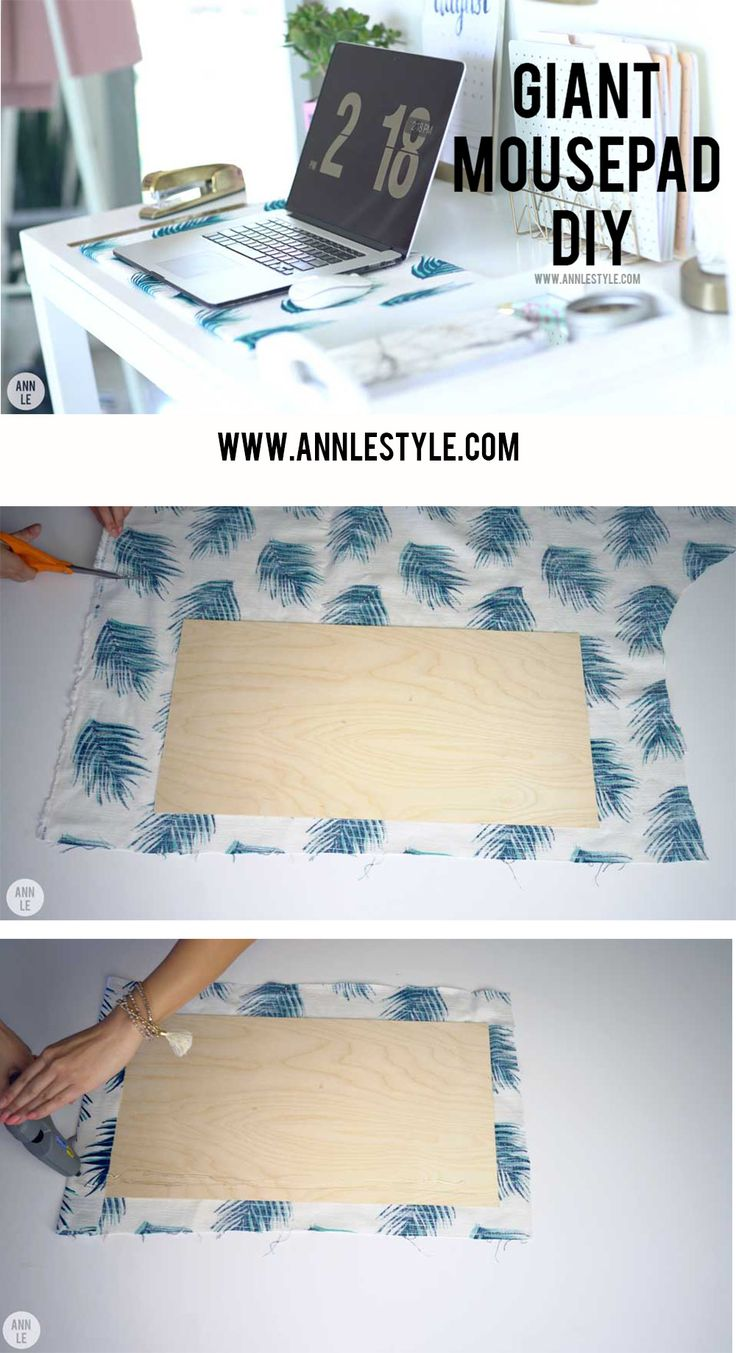 DIY Giant Mousepad | LifeAnnStyle.com