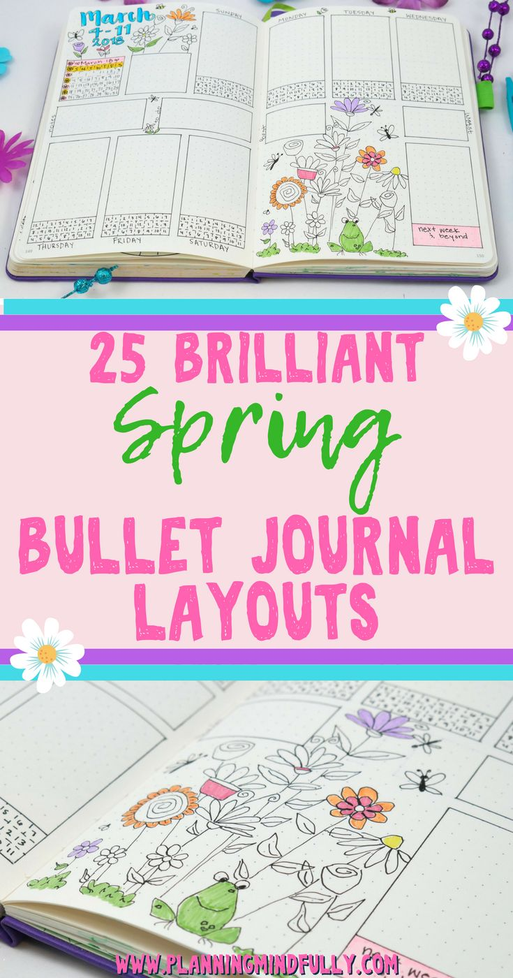 Handlettering ideas that are excellent for bullet journals in the spring! Learn how to make pretty writing for bullet journal spreads.