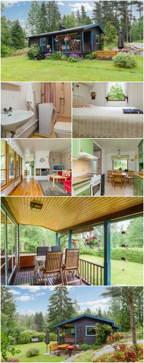 """This 570sf """"Tiny"""" House Takes its Cues from the 50's and Adds Modern Flair - If you loved the styles in the 1950's, you're going to love this tiny house that we found in Sweden! This 570-square foot house was updated in 2012 to add modern elements making it more energy-efficient, but it still has all the charm from an era past."""