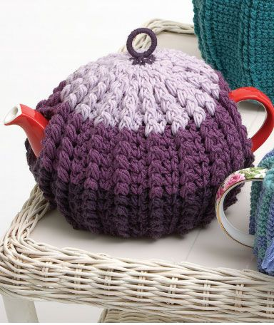 Doulton Tea Cosy Free Crochet Pattern. MEASUREMENTS To Fit Teapot 2-3 cup 4-6 cup Circumference (approx) cm 40 45 Length (approx) cm 14 17 PATONS TOTEM 8 PLY 50g balls 1st Colour (C1) 2 3 2nd Colour (C2) 1 1 3rd Colour (C3) 1 1 Free tea cosy crochet pattern: Free Pattern More Great Looks …