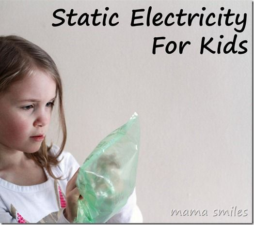 Static electricity for kids - simple, fun #science #experiment that demonstrates contact-induced charge separation.