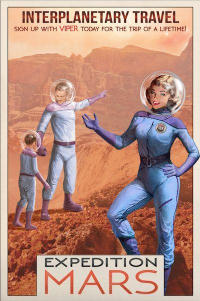 Trip to Mars anyone? | Retro Future | Pinterest | Poster ...