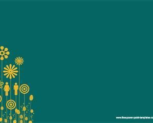 23 best flowers backgrounds for powerpoint images on pinterest ppt plantilla verde con amarillo para powerpoint ppt template toneelgroepblik Gallery