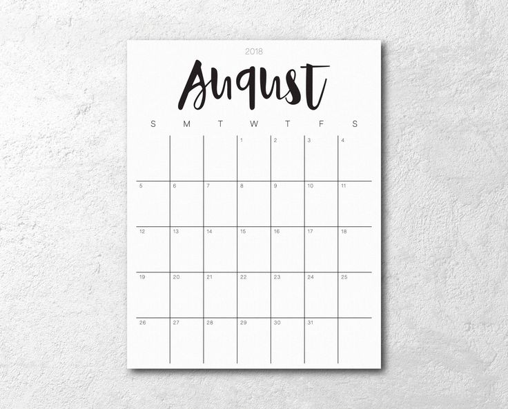 2018 Calendar Printable - Monthly Printable Planner - Minimalist Script  This 2018 monthly calendar/planner printable is elegant and simple. Stay organized and keep track of your important dates, priorities, reading list, notes, etc.! Download and print instantly!  This listing is for an instant digital download of 1 digital PDF file:  1. PDF file: 12 - 8.5 x 11 (21.59cm x 27.94cm) monthly calendars (January 2018 - December 2018)  The colors of the print may be slightly different to what...