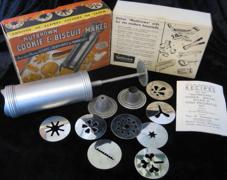 Vintage Nutbrown Cookie Maker, in Original Box, with Recipe Leaflet by TheWhistlingMan on Etsy
