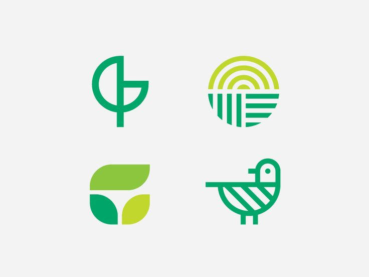 Some additional Greenteria logo concept proposals. The final mark is the bird/leaf concept.