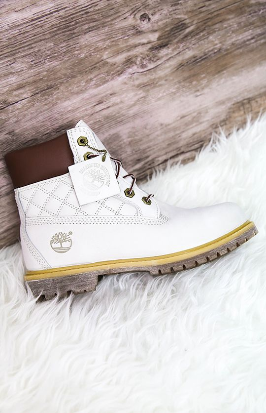 Timberland - 6-Inch Premium Waterproof Boots - Off White from Peppermayo.com
