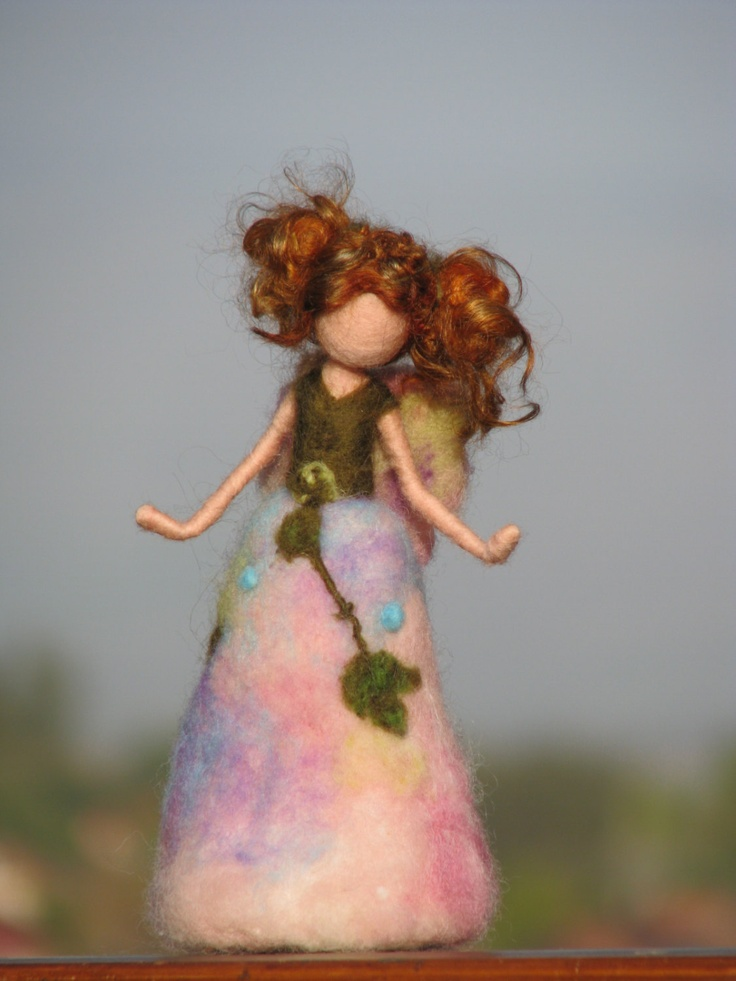 Waldorf inspired needle felted garden fairy...Etsy