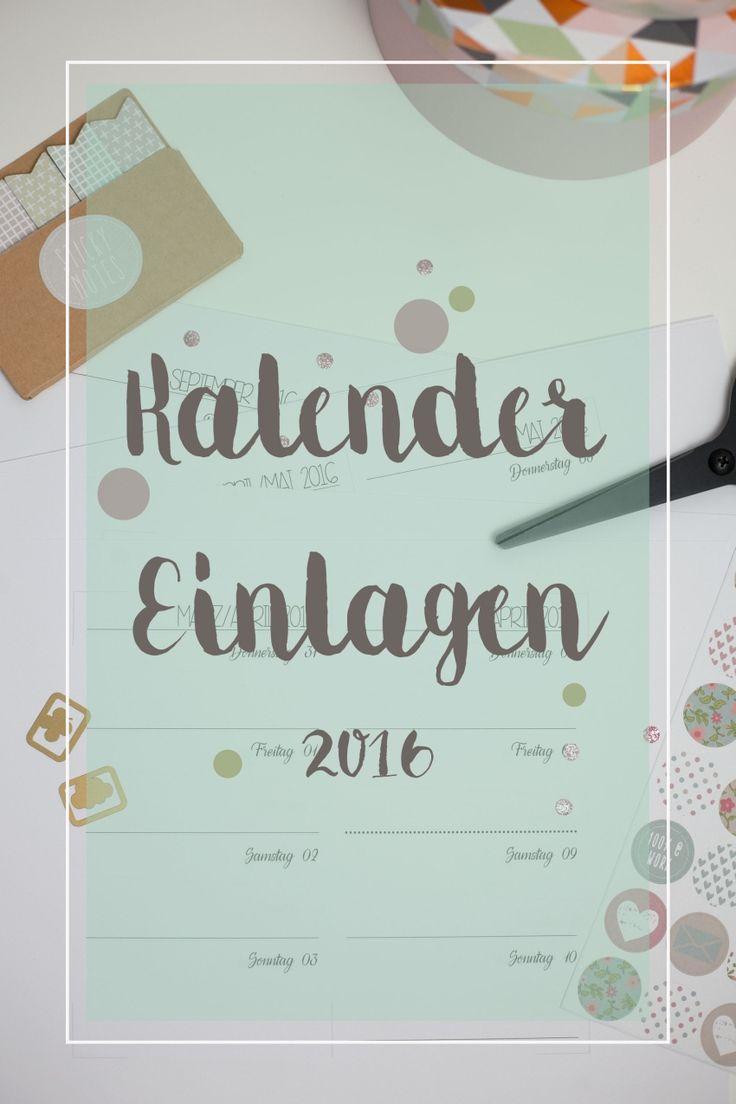 Kalendereinlagen für 2016 by themintelephant // 1 Woche auf 2 Seiten // Filofax Personal // Happy 2016!
