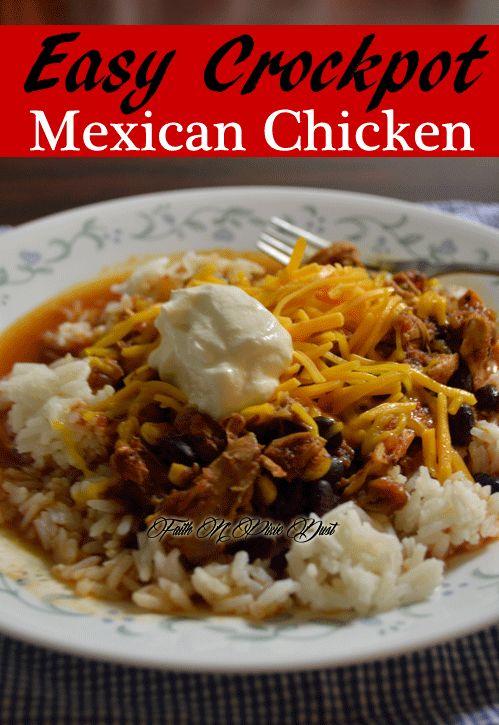 Easy Crockpot Mexican Chicken