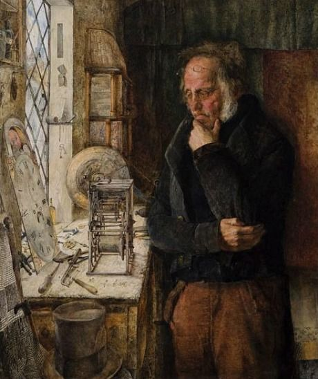 James Campbell  -  Our Village Clockmaker Solving a Problem    1859