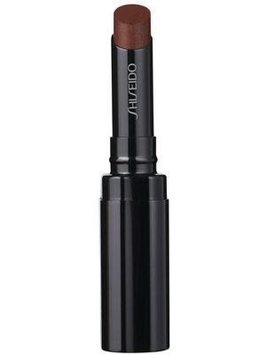 This shimmery, latte-colored Shiseido lipstick moisturizes lips....