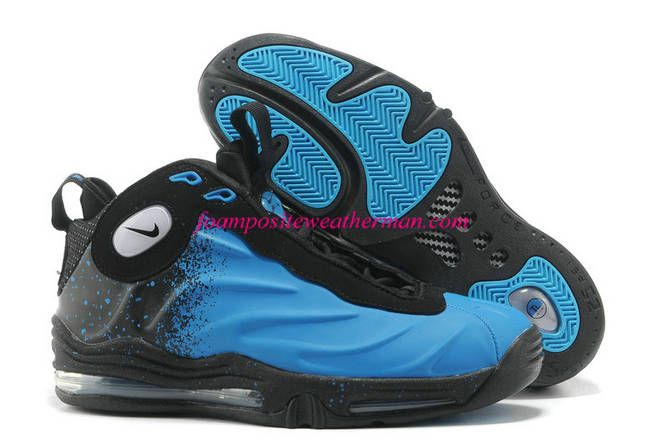 Current Blue Nike Air Total Foamposite Max Black 472498 400