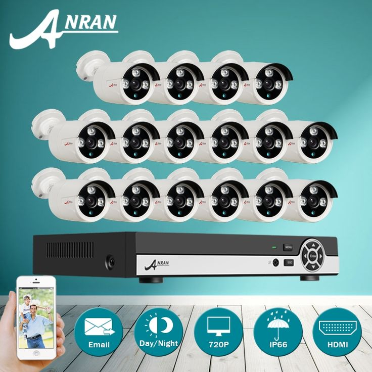 504.62$  Watch here  - ANRAN 16CH 1080N DVR Kit 1800TVL 720P HD Outdoor Home Security Camera System 16CH CCTV Video Surveillance DVR AHD Camera Set