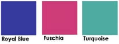 Royal Blue, Fuchsia & Turquoise Color Scheme