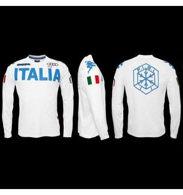 #Kappa #TShirts & #Polo EROI TEE #ITALIA #FISI #Sci Uomo