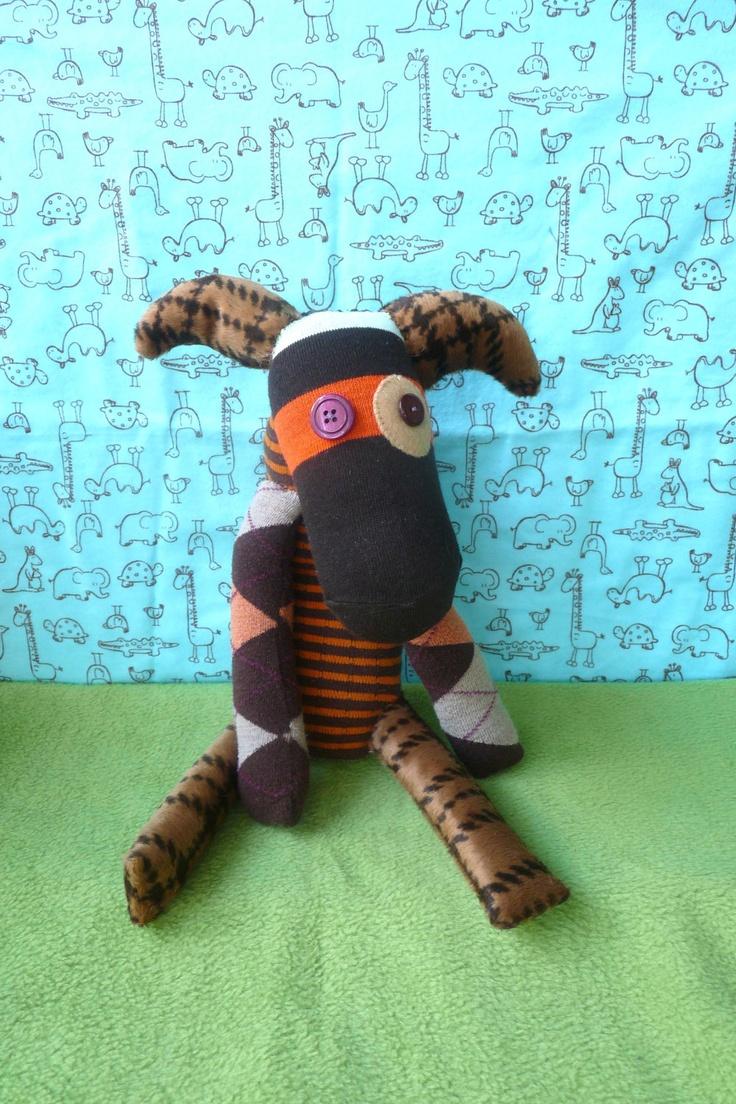 OOAK bandit handmade stuffed animal. $34.00, via Etsy.