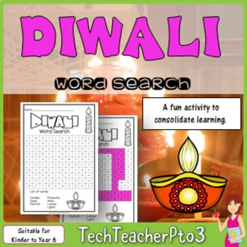 Do you have students in your class who celebrate Diwali? Would you like to make your classroom inclusive, while exploring different celebrations around the world? Explore the festival of Diwali with your students with this fun word search. Easy enough for