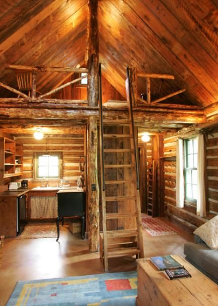This is little house on the prairie upgraded i love this for Log home with loft