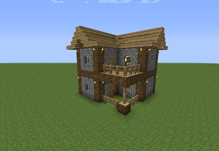 I build this house almost every time I start a new game in Minecraft. It is the cutest little starter cabin :)