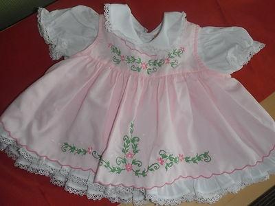 Vintage newborn dress, circa 1960's