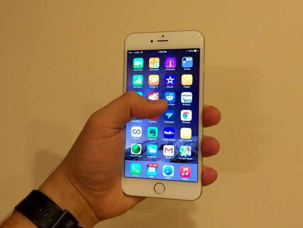 Users need to adapt to the larger iPhone 6 Plus display.