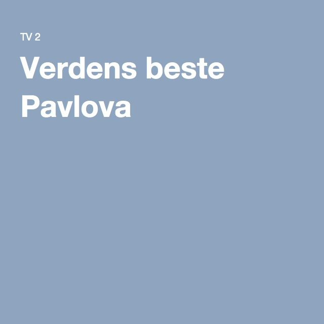 Verdens beste Pavlova