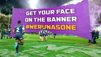 Melbourne Storm NRL letting fans have their name and face on the team banner
