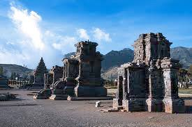 The beauty of the temple Dieng  two temples
