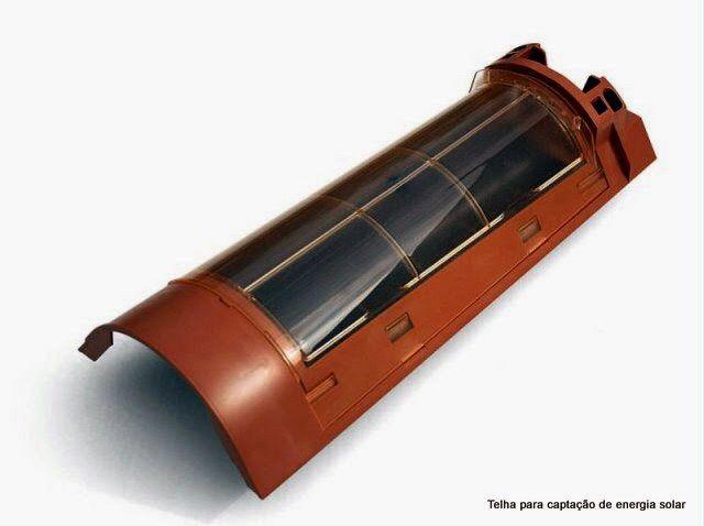 Telha cerâmica fotovoltaica